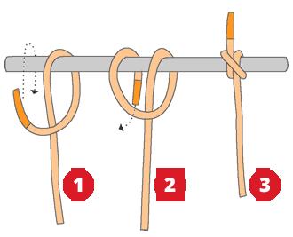 Noeud de cabestan noeud marin simple et facile - Comment faire un noeud de chaise ...